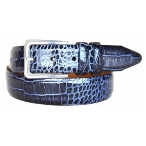 Lejon Amador Black Printed Saddle Leather Belt