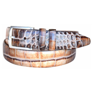 Lejon Azurmendi Brown & Tan Genuine Leather Belt