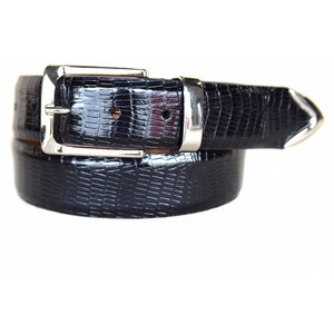 Lejon Le Bernardin Black Genuine Leather Belt