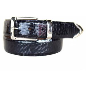 Lejon Le Bernardin Black Genuine Leather Belt