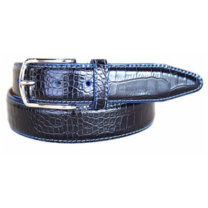 Lejon Anzio Black Genuine Leather Belt