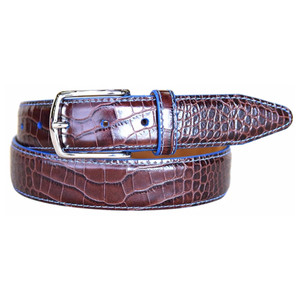 Lejon Anzio Brown Genuine Leather Belt