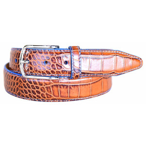 Lejon Anzio Cognac Genuine Leather Belt