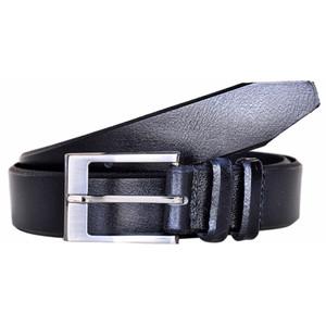 Lejon Powell Black Genuine Leather Belt