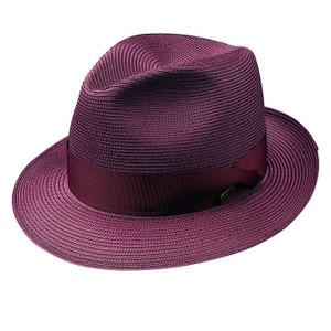 Dobbs Rosebud Burgundy Straw Hat