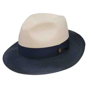 Dobbs Toledo Navy & White Straw Hat