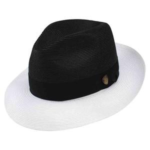 Dobbs Toledo Black & White Straw Hat