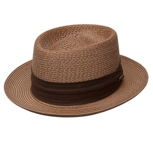 Dobbs Bishop Cognac Straw Hat