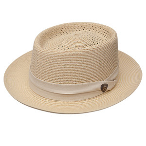 Dobbs Bishop Beige Straw Hat