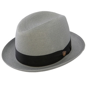 Dobbs Parker Gray Straw Hat