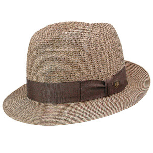 Dobbs Madison Cognac Straw Hat