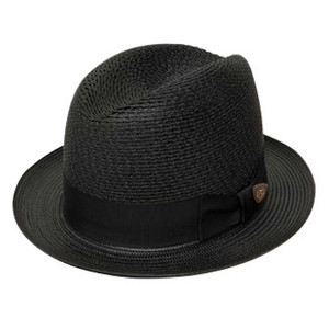 Dobbs Madison Black Straw Hat