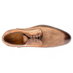 Jose Real Berlina Derby Nubuck Tan Leather Oxfords