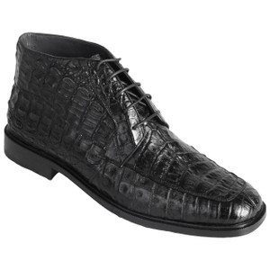 Los Altos Black Genuine Caiman Skin Lace-ups