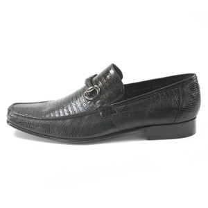 Black Genuine Teju Lizard Skin Slip-on By Los Altos