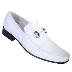 Los Altos White Genuine Teju Lizard Skin Slip-ons