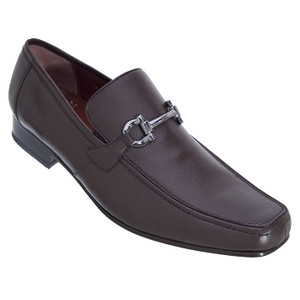 Los Altos Brown Genuine Deer Skin Slip-ons