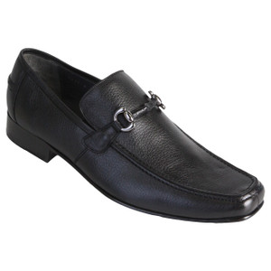 Los Altos Black Genuine Deer Skin Slip-ons