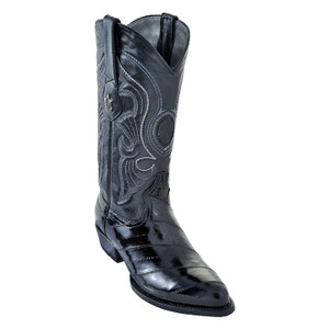 Los Altos Black Eelskin Western Boot