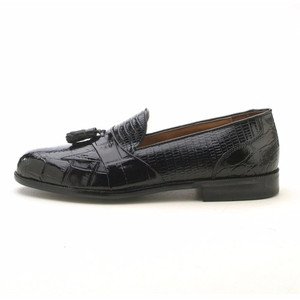 Stacy Adams Alberto Black Snake & Crocodile Print Slip-On