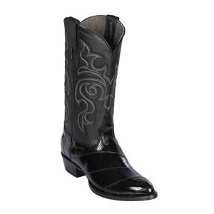 Los Altos Black Medium R-Toe Genuine Eel Boot