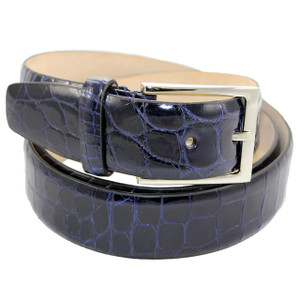 Fennix Navy Body Alligator Dress Belt