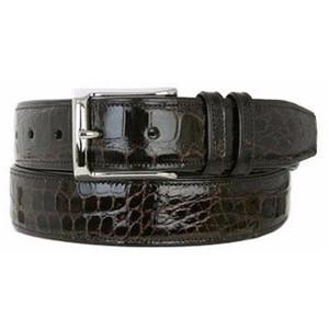 Mezlan Dark Brown Genuine Alligator Belt