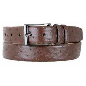 Mezlan Tabac Genuine Ostrich Belt