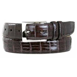 Mezlan Fall Brown Genuine Crocodile Belt