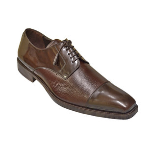 Mezlan Soka Brown Deerskin & Calfskin Lace-Up