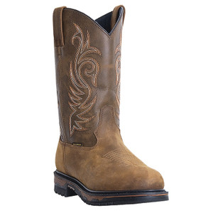 Laredo Sullivan Tan Cheyenne Waterproof Distressed Leather Boot