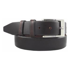 Mahogany Pebbled Leather Belt