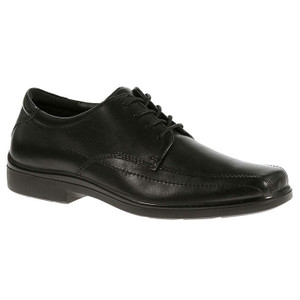 Hush Puppies Venture Black Leather Lace-Ups