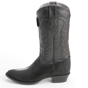 Los Altos Exotic Black Boots Genuine Stingray Skin