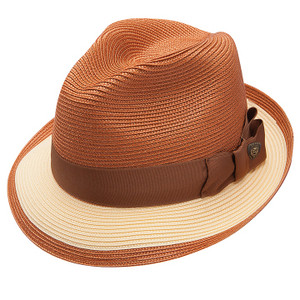 Dobbs Theadore Copper & Yellow Straw Hat