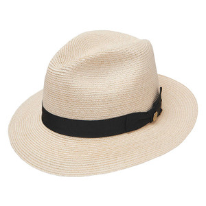 dad4fc65ee4 Stetson Cool Way Beige & Brown Straw Hat