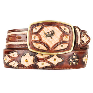 King Exotic Caiman Belly Authentic Oryx Belt