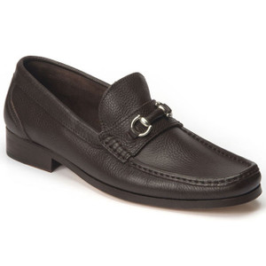 Sandro Moscoloni Garda Brown Genuine Leather Bit Loafers