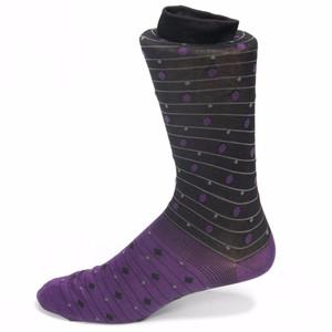 Tallia Purple & Black Printed Socks