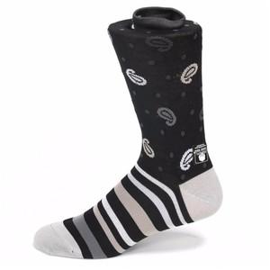 Tallia Black & White Printed Socks