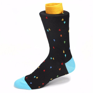 Tallia Black & Blue Printed Socks