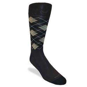 Remo Tulliani Felice Brown Argyle Dress Socks