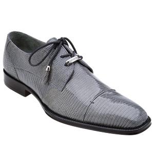 Belvedere Karmelo Gray Lizard Cap-toe Casual Men's Dress Shoes