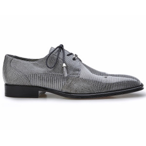 Belvedere Karmelo Gray Lizard Cap-toe Casual Dress Shoes