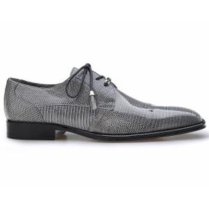 Belvedere Karmelo Gray Lizard Cap-toe Casual Dress Shoes