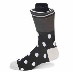 Tallia Black & White Multi Dot Print Socks
