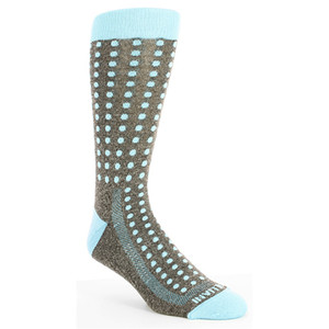 Remo Tulliani Seneca Gray & Blue Dotted Dress Socks