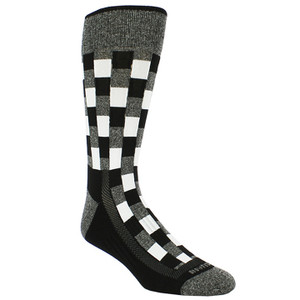 Remo Tulliani Fox Black & Gray Dress Socks