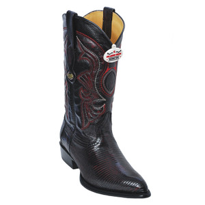 Los Altos Black Cherry J-Toe Genuine Teju Lizard 990618