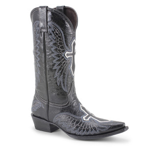 Pecos Bill Black Leather Western Boot